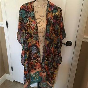 Beautiful Floral Flowy Kimono Sheer Wrap